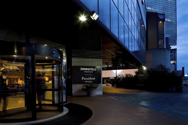 Starhotels President a Genova: ingresso dell'Hotel