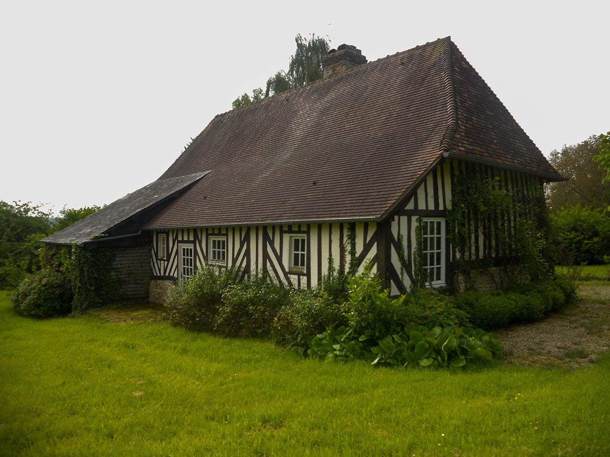 Cottage privati in Normandia: vista dall'esterno