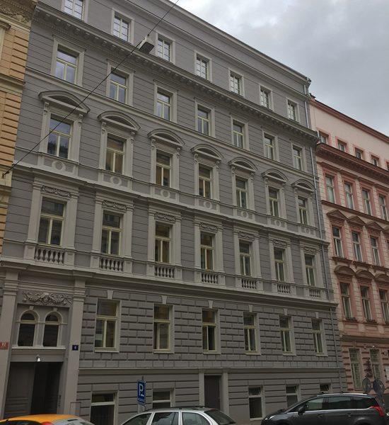 Appartamenti residenziali a Praga: vista palazzo dall'esterno