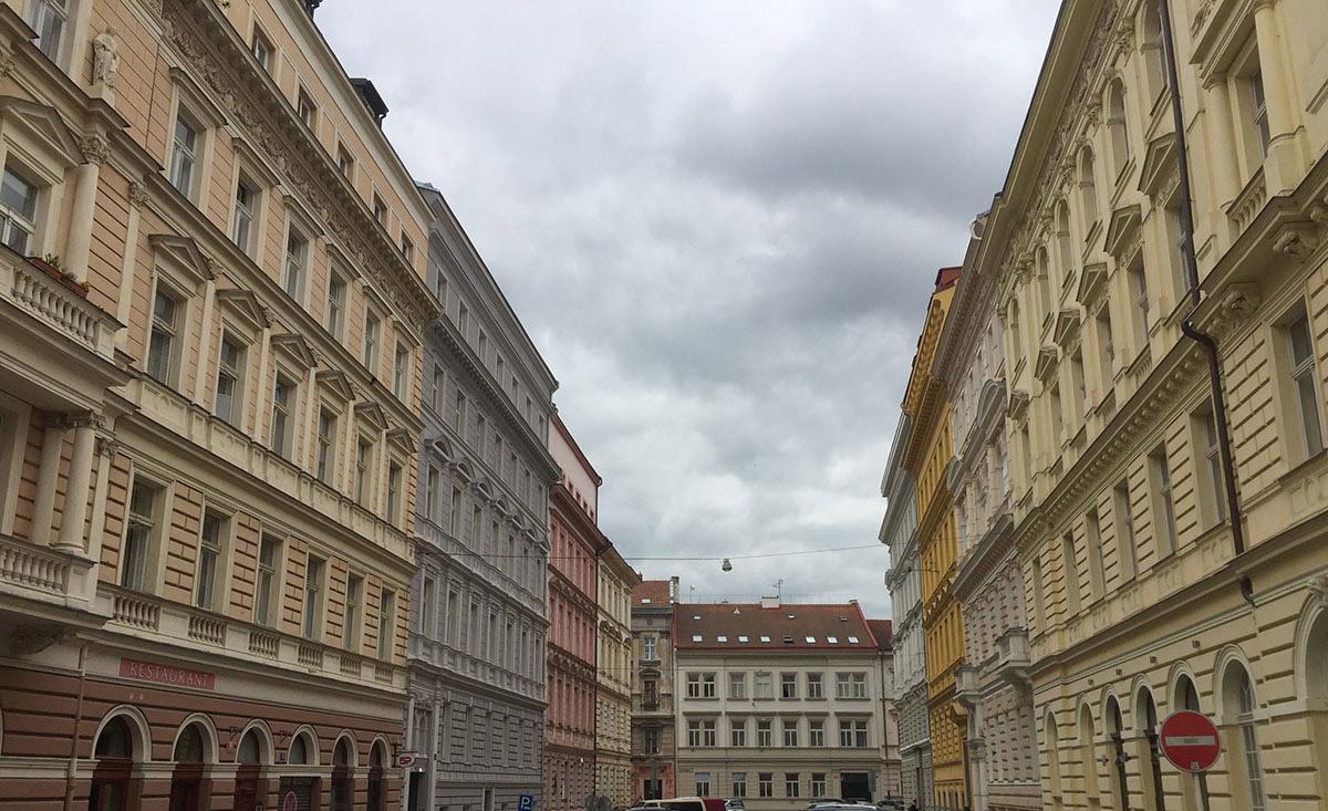 Appartamenti residenziali a Praga: facciata palazzo