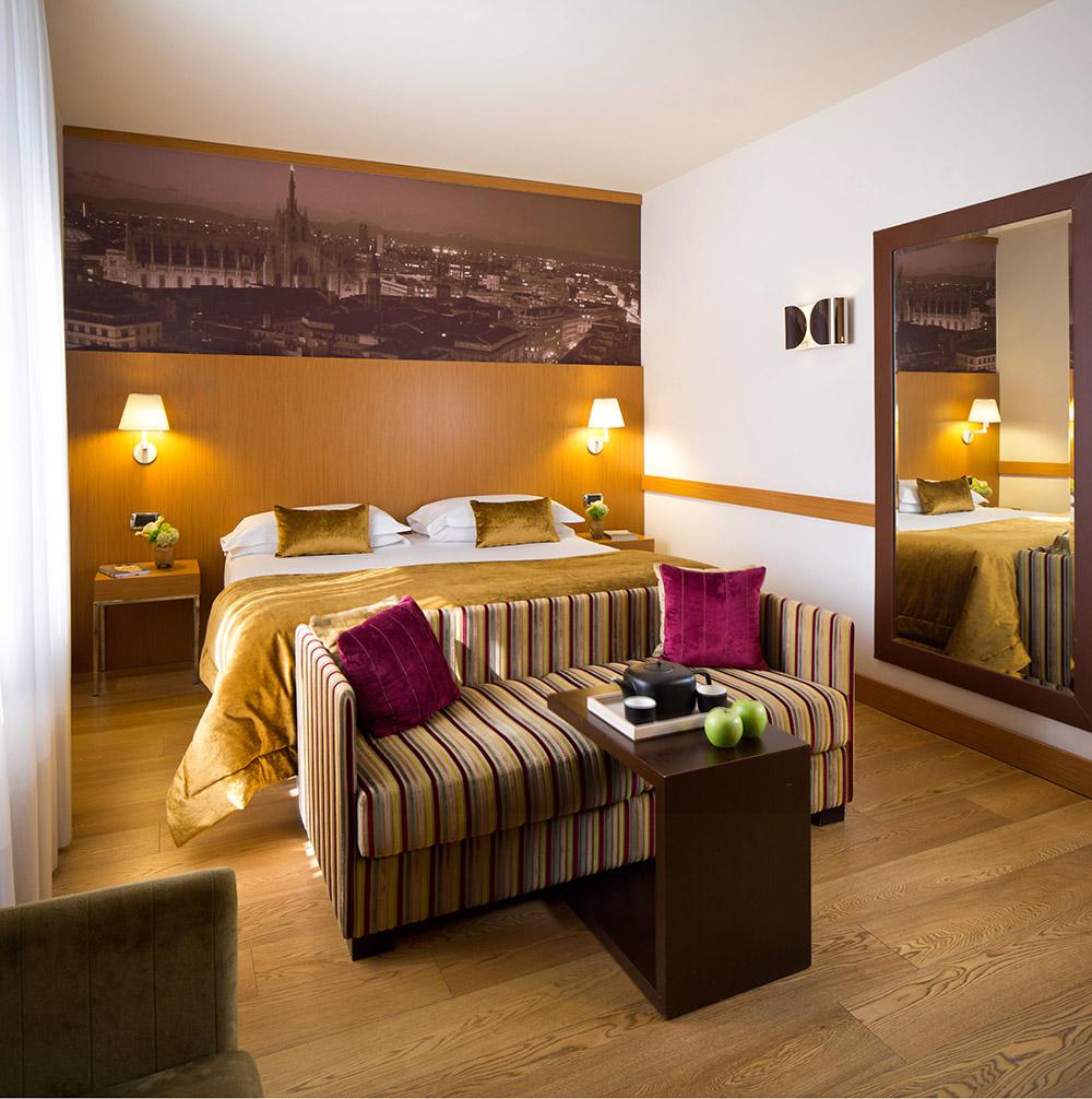 Starhotels Tourist a Milano: Dettagli stanza Deluxe