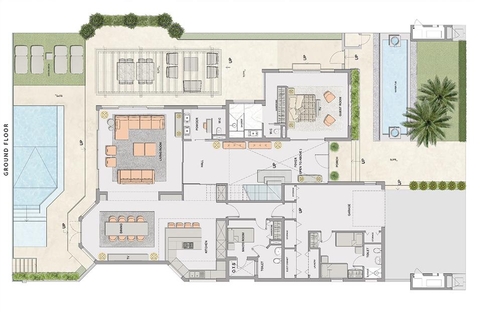Villa privata a Dubai: piantina